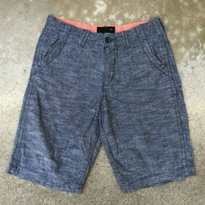 Quicksilver Men's Casual Chambray Shorts Size 31